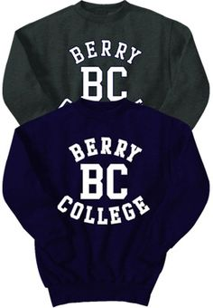 A Berry College sweatshirt will do if I can't have a hoodie.