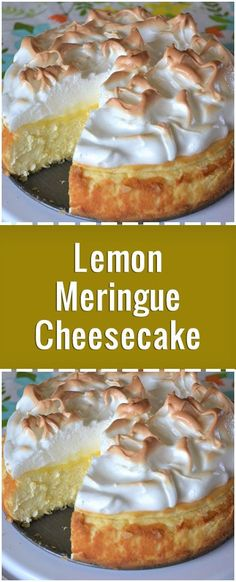 """Love lemon meringue pie and cheesecake? Well this is the best of both worlds. - ""Love lemon meringue pie and cheesecake? Well this is the best of both worlds. Great any time of - Brownie Desserts, Oreo Dessert, Lemon Desserts, Köstliche Desserts, Lemon Recipes, Pie Recipes, Recipes Dinner, Crockpot Recipes, Healthy Recipes"