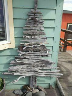 Christmas in Homer, Alaska Outdoor Projects, Garden Projects, Orlando, Homer Alaska, Driftwood Christmas Tree, Alaska The Last Frontier, Decorating Ideas, Craft Ideas, Aspen Trees