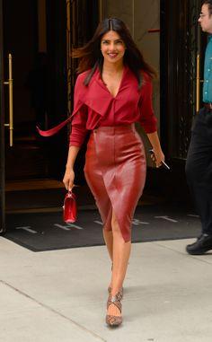 Priyanka Chopra is seen leaving her apartment on October 9, 2018 in New York City