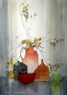 Авторские галереи - Скрипченко Людмила Андреевна / прозрачно... / Графика [Натюрморт]