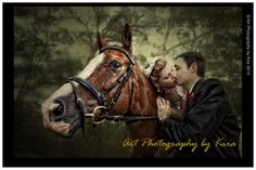 A horse-riding bride!