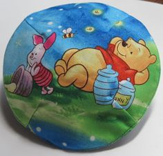 Whinne The Pooh and Piglet Among Fireflies Kippah by StudioBJC, $15.00