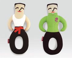 Flying Hero dog toys by Double Rice. Inspired by legendary Chinese figures. Miles wants a Bruce Lee.