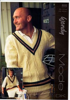 Cricket Sweater and Slipover in Wendy Mode DK (5332) | Mens Knitting Patterns | Knitting Patterns | Deramores