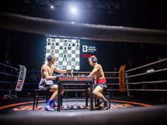 "Chessboxing World Championship, Sven Rooch vs. Jonatan Rodruguez-Vega, Moscow 2013 (© Chess Boxing Global) from ""Chessboxing Combines Two Greatest One-On-One Sports"" at theparagraph.com"