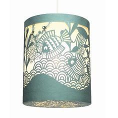 Papirklip lampe - Havet