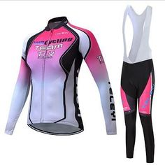b3450bbcaa 2017 Women Winter Thermal Fleece Cycling Jersey TELEYI Bike Clothing Wear  Skinsuit Bicycle Clothes Mtb Maillot