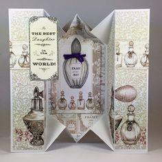 Craftwork Cards Blog: Accordion Cards - tips and tricks. Vintage Ephemera Card by Neil Burley.