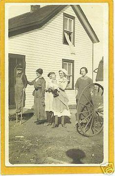 Real-Photo-Postcard-RPPC-Boy-on-Stilts