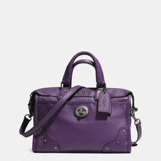 The Rhyder 24 Satchel In Leather from Coach I want this so bad!!