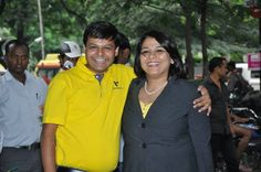 Ms. Sunila Patil with one of her colleague!