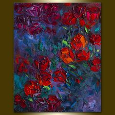 Fine Art Giclee Canvas Print Red Rose Print from by willsonlau