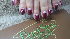 Halfmoon manicure with Shellac Romantique, Masquerade and Zillionare.