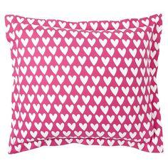 Sweethearts Flannel Duvet Cover + Sham, Pink Magenta   PBteen