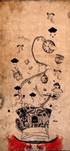 """O chapeleiro louco foi criado baseado em fatos reais de trabalhadores que ficavam expostos ao mercúrio na produção de chapéus, na França a um bom tempo atrás. Adoro a história da Alice mas saber que muitos trabalhadores morreram da doença do """"chapeleiro louco"""" é triste. O mercúrio em doses excessivas no homem atinge o sistema neurológico causando essa doença caracterizada por sintomas como a mudança súbita de humor, irritabilidade, depressão e muitas vezes tendência ao suicídio."""