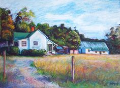 North Carolina Farm Painting  22 x 30 Original by BethanyBryant, home sweet home...nc♥