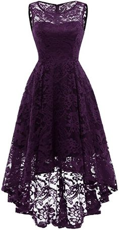 Market In The Box Women's Lace Dress Vintage Floral Sleeveless Hi-Lo Formal Party Dress Asymmetrical Cocktail Formal Swing Dress Casual Dresses, Short Dresses, Prom Dresses, Cheap Dresses, Elegant Dresses, 1950s Dresses, Quinceanera Dresses, Bride Dresses, Simple Dresses