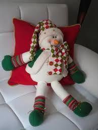 Resultado de imagen para moldes de cojines reno navideños Christmas Pom Pom, Christmas Mantels, Christmas Sewing, Christmas Baubles, Diy Christmas Gifts, Christmas Snowman, Christmas Stockings, Christmas Decorations, Elf Centerpieces