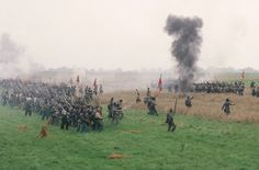Picket's charge across the field at Gettysburg.