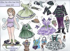 Olive the Olive Tree Fairy Paper Doll by TheOliveFairy on Etsy