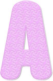 Alfabeto Decorativo: Alfabeto - Costurado 1 - PNG - Letras - Maiúsculas...