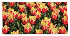 "A Lot Of Red And Yellow Tulips Towel (Beach Sheet (37"" x 74"")) by Tim Abeln.  Our towels are great."