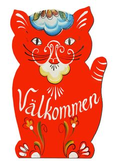 Dala Cat Sign (Swedish)- Rare and elusive though the they are, I FOUND MORE DALA CATS FOR YOU!!!!