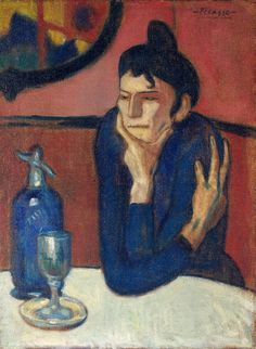 Pablo Picasso Absinthe Drinker 1901. Oil on canvas. 73 x 54 cm. The State Hermitage Museum, Saint Petersburg. 9045.