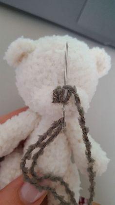 """Free crochet pattern """"The bear"""" Crochet Teddy Bear Pattern, Plush Pattern, Crochet Animal Patterns, Stuffed Animal Patterns, Crochet Animals, Amigurumi Patterns, Crochet For Kids, Free Crochet, Crochet Keychain"""