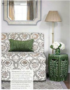 #Gardenstool #styling #chair #floorlamp #mirror #arearug #stool #flowers #design #interiordesign