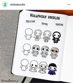 mentions Jaime, 16 commentaires - shibadoodle sur : Take a look at this awesome halloween step by step by anotherme. I think you would really Bullet Journal Notes, Bullet Journal Aesthetic, Bullet Journal Ideas Pages, Bullet Journal Inspiration, Halloween Doodle, Halloween Drawings, Halloween Diy, Doodle Drawings, Easy Drawings