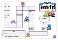 Blank board game - Monster Fun