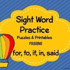 Throw away those boring worksheets and give students engaging hands on activities to help them master sight words.  This Freebie is sure to keep yo...