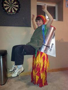 ein sehr populäres einfaches Kostüm   Jetpack, das wie fliegend aussieht