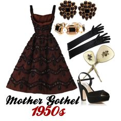 """""""Mother Gothel 1950s"""" by jamiethornton78 on Polyvore"""