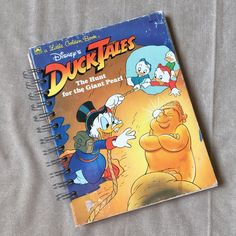 A personal favorite from my Etsy shop https://www.etsy.com/listing/536726401/repurposed-book-journal-duck-tales-blank