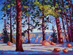 Northern Rim - Modern Impressionism | Contemporary Expressionism Oil Paintings Landscapes for Sale by Erin Hanson