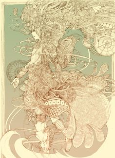 koi alchemist indie drawings drawing scraps illustrations fabric deviantart ink illustration