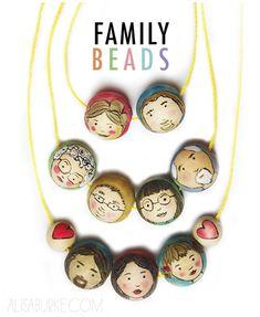 alisaburke: family beads