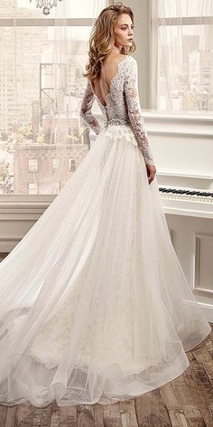 Chic Long Sleeve Wedding Dresses ❤️ See more: http://www.weddingforward.com/long-sleeve-wedding-dresses/ #weddings