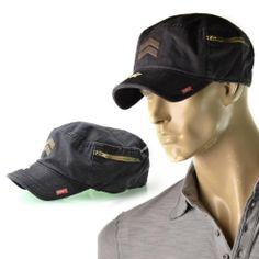 With Tags Attached A. Kurtz Fritz Miltary Black Cap Hat Ak002  4914a8ea1743
