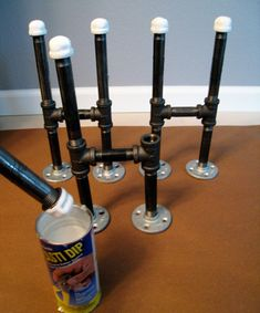 pipe and flange table legs--I will have a table with pipe legs soon.