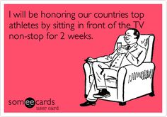 So true! Sadly, we brought home McDonald's to watch the opening ceremony. ... Olympic fever