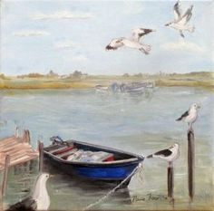 Velddrif South Africa painted in oil on canvas x Available at Perels en Pampoene Hopefield Nautical Painting, Nautical Art, Landscape Photography, Art Photography, Sea Pictures, South African Art, Boat Art, Ocean Themes, Illustrations