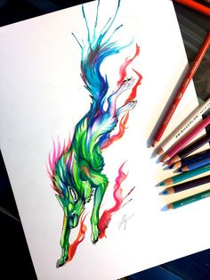 Flame Canine Design by Lucky978.deviantart.com on @DeviantArt