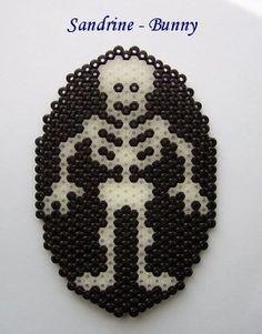 Skeleton Halloween hama perler