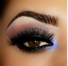 Photo: Another smokey with purple highlight Love Makeup, Makeup Tips, Beauty Makeup, Hair Makeup, Hair Beauty, Beauty Tips, Purple Smokey Eye, Smoky Eye Makeup, Vegas Makeup