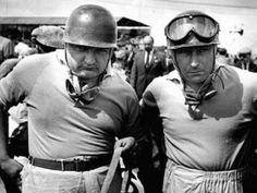 1953 British Grand Prix Maserati team-mates Jose Froilan Gonzalez and Juan Manuel Fangio Ferrari Racing, Ferrari F1, F1 Racing, Racing Team, Maserati, Le Mans, Men Are Men, British Grand Prix, Gilles Villeneuve