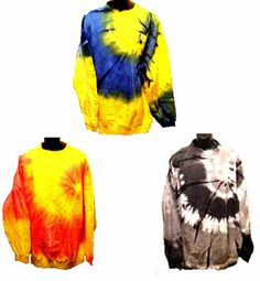 UNISEX TIE DYED CREWNECK SWEATSHIRT ~ GREAT FOR GUYS AND GIRLS ~SIZE XL AND 2XL